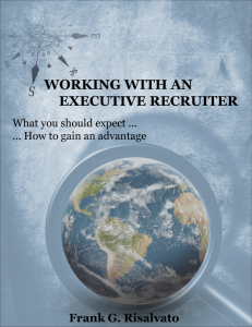 Working With An Executive Recruiter
