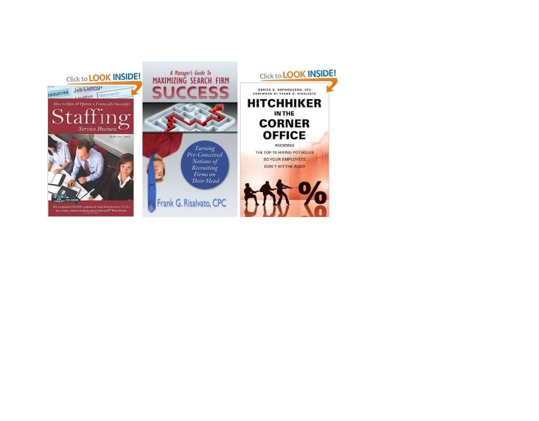 Frank Risalvato Insurance Executive Recruiter Featured in THREE Executive Recruiter Books