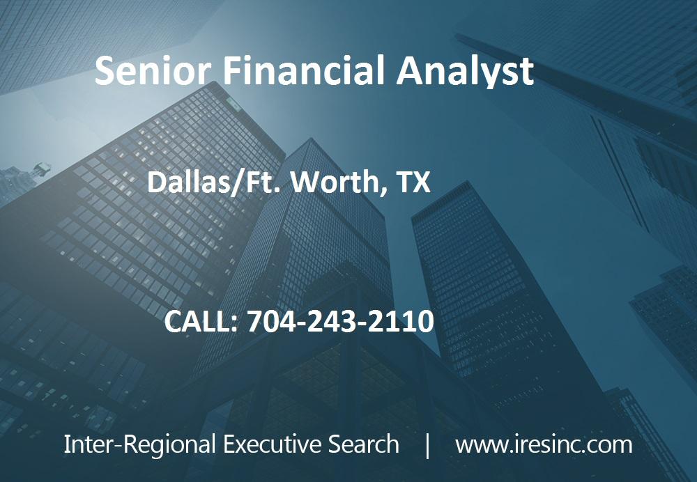Job Posting - Senior Financial Analyst - DFW Area